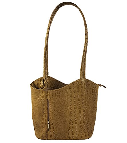 FreyFashion porté dos Sac main à in femme Kroko au Taupe pour Made Italy YwAx6rqY