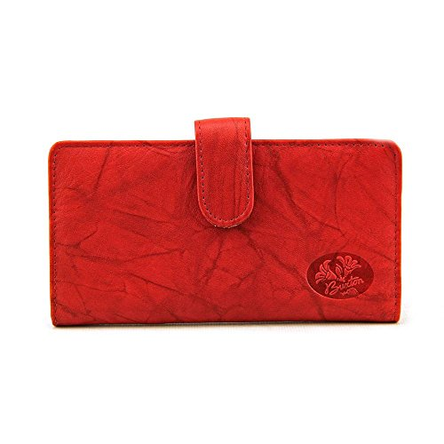 Buxton Heiress Pik Me Up - Checkbook & Credit Card Holder Wallet, Red