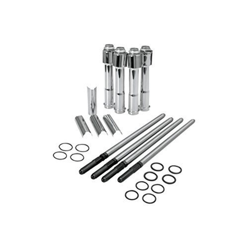 S&S Cycle Standard Adjustable Pushrod Complete Kit (Complete Pushrod Cover)