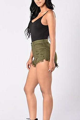 Pantaloni Donne Club Armygreen Caldo Jeans Nimpansa Corto Magre Occasionale Tagliare Denim Beach 0qHOdYHn