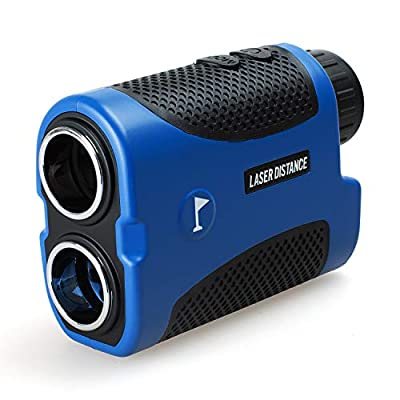 Gogogo Laser Rangefinder for Golf & Hunting Range Finder Gift for Father Distance Measuring with High-Precision Flag Pole Locking Vibration Function?Slope Mode Continuous Scan