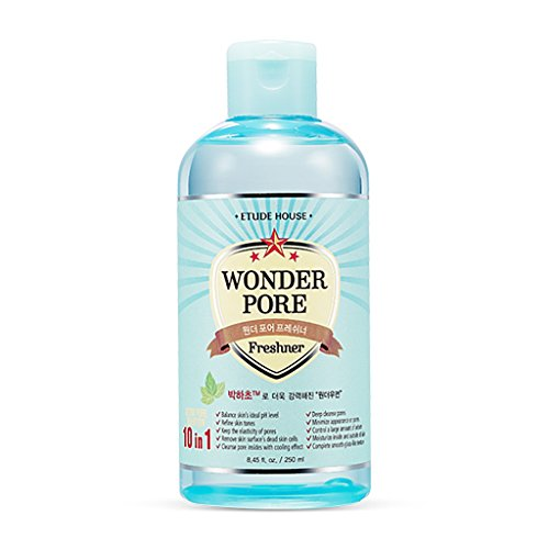 ETUDE HOUSE Wonder Pore Freshner 8.45 fl.oz. (250ml) - Pore Care Astringent with Peppermint Extract, Deep Cleansing, Sebum Control, pH4.5 Care, Makes Skin Pure from Etude House
