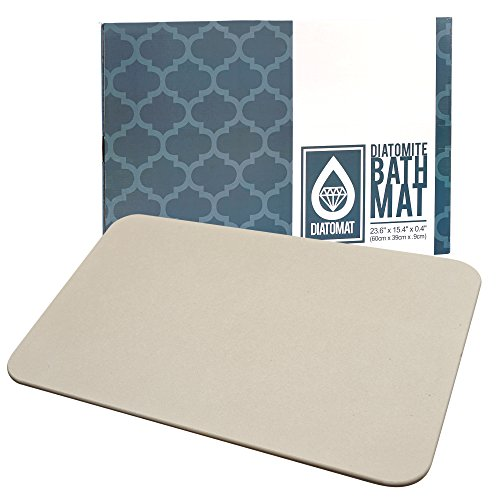 Diatomat Diatomite Stone Bath and Shower Mat by, Non Slip Mat with Diatomaceous Earth Antibacterial Super Absorbent Fast Drying for Bathroom Shower Floor, Promotes Safety for Children and Elderly by Diatomat