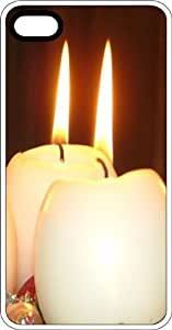 taoyix diy Burning Candles Clear Plastic Case for Apple iPhone 4 or iPhone 4s