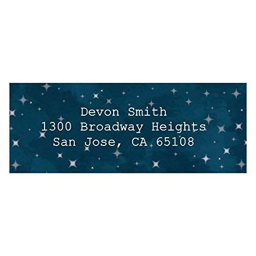 Custom Twinkle Twinkle Little Star - Personalized Baby Shower or Birthday Party Return Address Labels - Set of 30 ()