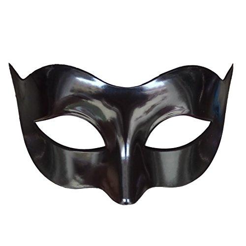 7Queen Mens Masquerade Mask Black Vintage Half Face Party Mask Mardi Gras Christmas Halloween Phantom of The Opera (Phantom Of Opera Halloween)