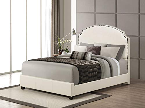 ACME Kristina Cream Faux Leather Queen Bed