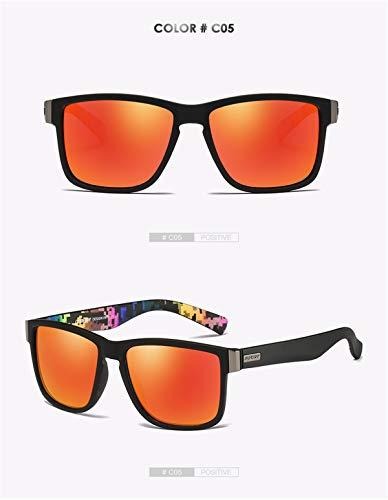 Marca de para Hombre Spuare Gafas Gafas Sol Conductor Verano polarizadas Oculos de UV400 la Sol Hombres Sombras de KOMNY de E Vintage Espejo Hombres de D Diseño qnwtU1xOP