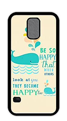 S5 case-Be so happy that when others look at you they become happy too hardshell black case for Galaxy 5 S5 by Shoulp