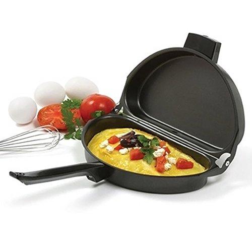 Taloyer Stainless Steel Folding Handle Omelette Kitchen & Outdoor Portable Not Sticky Pot Utensils Set