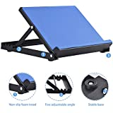 """Giraffe-X Slant Board - Calf Stretcher Incline Stretching Board Ankle Therapy Stretch Wedge Achilles, Plantar Fasciitis, Calves Muscle Exercise, Workout Trainer, 16""""x 13.7"""", 4 Position (Blue)"""