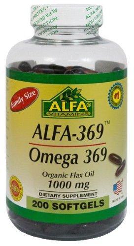 Alfa Vitamins Alfa 3-6-9 1000 Mg Nutrition Supplement, 200 Count, My Pet Supplies