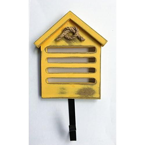 TtoyouU Set of 4 Creative Wood House Design Metal Decorative Wall ...