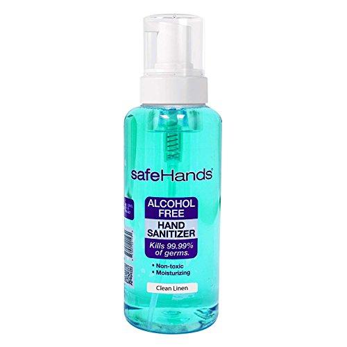Hand Sanitizer 18 Oz Pump (SafeHands #1 Alcohol Free Foam Hand Sanitizer Brand, Clean Linen, 18 Oz)