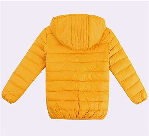 Lemonkids® Boys Winter Yellow Lightwear Outwear Coat Kids Jacket Down Chic Hooded r165Trwq