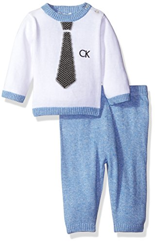 Calvin Klein Baby Sweater With Pants Set White 36 Months