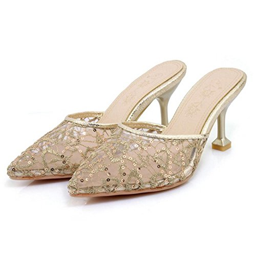 oro Donna TAOFFEN Scarpe Chiuse Pantofole Cq8InxwPAT