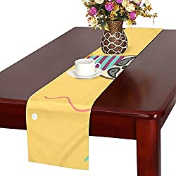 Happy Birthday Greeting Templates Invitation Cards Table Runner, Kitchen Dining Table Runner 16 X 72 Inch for Dinner Parties, Events, Decor