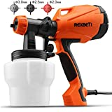 REXBETI Ultimate-750 Paint Sprayer, 500 Watt High Power HVLP Home Electric Spray Gun, 3 Nozzle Sizes, Lightweight, Easy Spraying and Cleaning, Perfect for Beginner