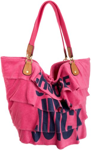 Juicy Couture Beach Gen Y Ruffle Tote,Flamingo,one size