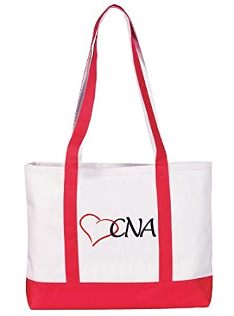Amazon.com: Prestige Medical Canvas Tote Bag, CNA Red, Large ...