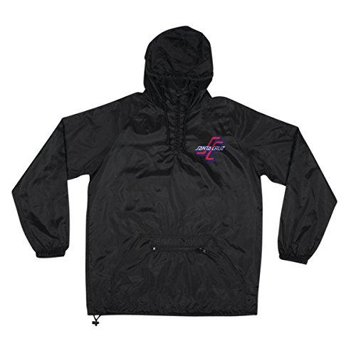 (Santa Cruz Mens OGSC Pullover Anorak Jacket Medium Black)