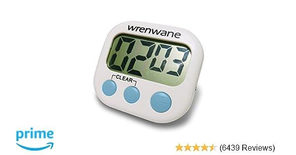 amazon com wrenwane digital kitchen timer no frills simple