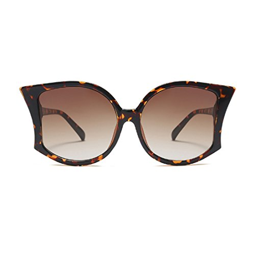 Leopardo de gafas Yefree de grandes manera mujeres Patrón Gafas sol mujeres de las UV400 de de de verano de sol las las la 1qwz1rI