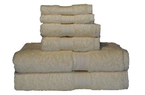 (Baltic Linen Majestic 6-Piece Heavy Weight Cotton Towel Set, Rich)