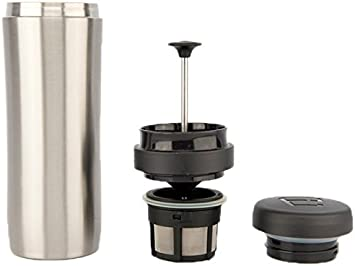 1l Le xpress Double Walled Stainless Steel Eight Cup Cafetiere