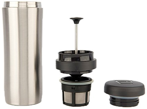 Espro Stainless Steel 12 Ounce Travel Press with Coffee and Tea Filters, Brushed Stainless