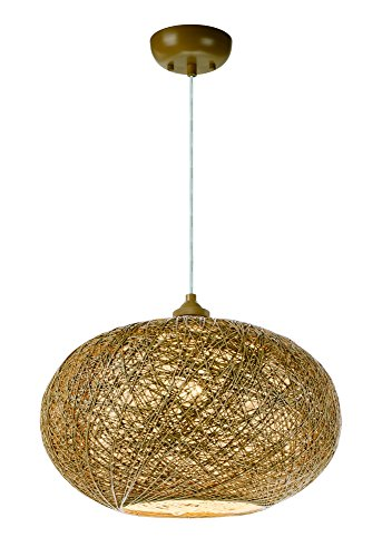 - Maxim 14402NAWT Bali 1-Light Chandelier, Finish, Glass, MB Incandescent Incandescent Bulb, 60W Max, Dry Safety Rating, Standard Dimmable, Steel Mesh Shade Material, Rated Lumens