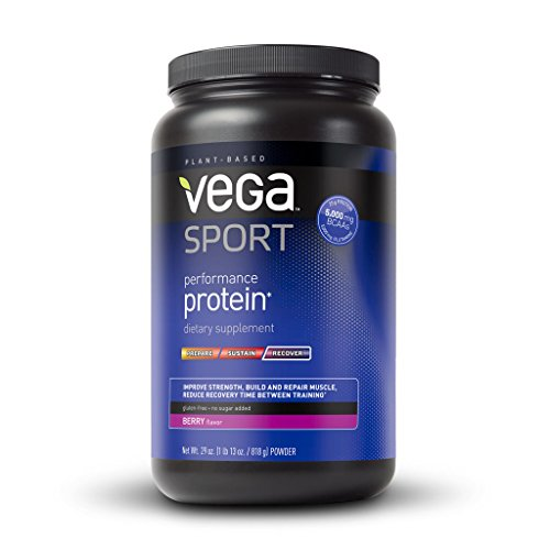 Vega Sport Performance Protein, Berry, Tub, 29 oz