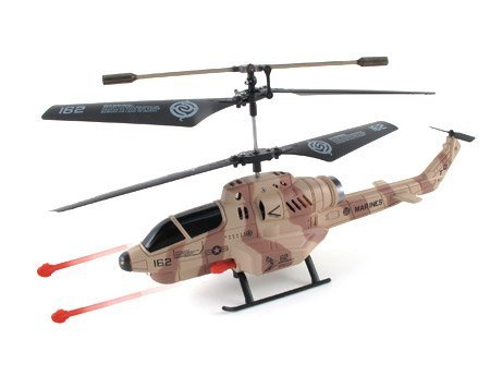 UDI U809A Cobra Combat Fighter New 3.5 Channel RC Helicopter with Missile Launcher Gyro RTF (Camouflage)