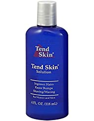 Tend Skin Womens AfterShave/Post Waxing Solution for Ingrown Hair, Razor Bumps and Razor Burns, 4 ounce, Blue