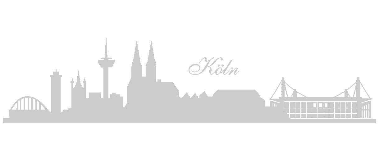 Samunshi® Wandtattoo Köln Skyline Stadion in in in 6 Größen und 19 Farben (230x52cm schwarz) B00URS9ISK Wandtattoos & Wandbilder e71069