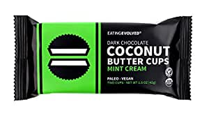 eatingEVOLVED - Organic Coconut Butter Cups, Mint Cream, 1.5 oz each (9 Count)