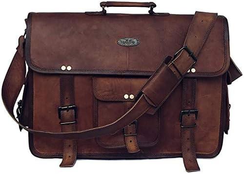 Leather Briefcase Messenger Shoulder Computer
