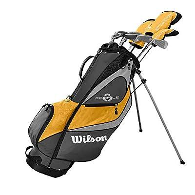 Wilson Profile XD Men's Flex Graphite Steel Golf Club Stand Bag Set, Gold ...