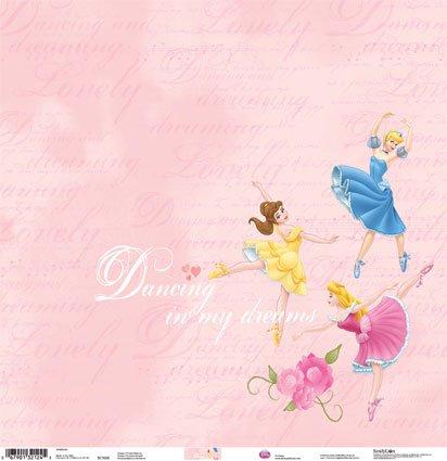 Disney's Dancing Princess Scrapbook Papers - 5 (Princess Scrapbook Kit)