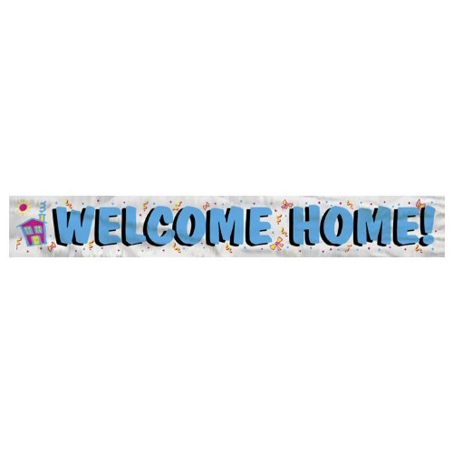 12ft Foil Welcome Home Banner product image