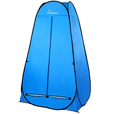 WolfWise Portable Camping Beach Toilet Pop Up Tents Changing Dressing Room Outdoor Backpack Shelter