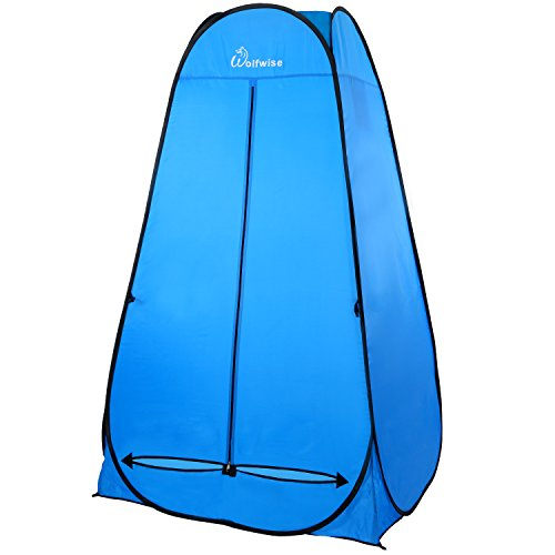 WolfWise Pop Up Changing Tent, 6.25Ft Dressing Room Outdoor Privacy Shelter for Camping Photo Shoot Shower Toilet W/Carrying Bag (Update Double Fabric)