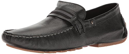 Steve Madden Mens Zepplyn Slip-on Mocassino In Pelle Nera
