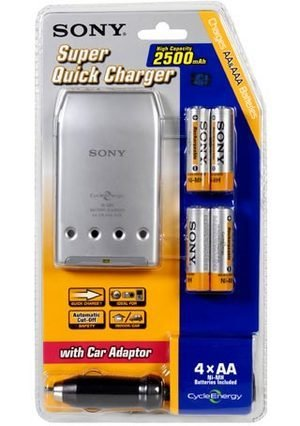 Amazon.com: Sony bcg-34hve4 Cargador de batería rápido con ...