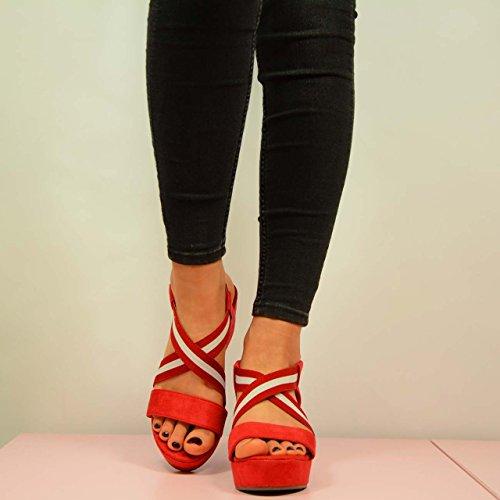 Cucu Fashion - Sandalias mujer Rojo - rojo