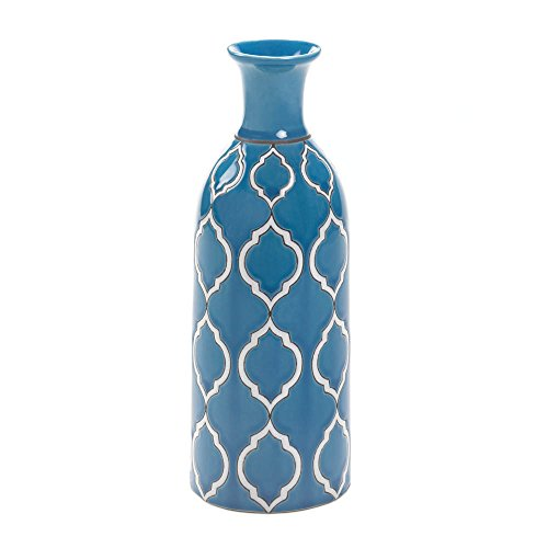 Home Decor Merit Blue Vase