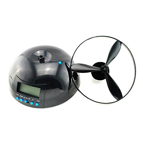(Zinnor Flying Helicopter Novelty Alarm Clock Crazy UFO Propeller Fly LCD Digital Alarm Clock Gadget,Backlight)