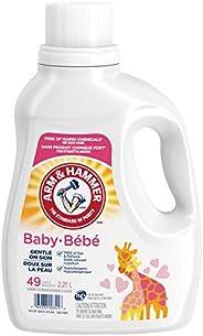 Arm & Hammer Laundry Baby, Hypoallergenic, Gentle on Skin, Liquid Laundry Detergent, 49 Loads 2.21 L