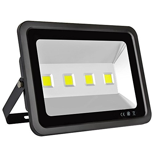 LAPUTA 200W Super Bright Led Flood Lights, 4 LED Lights, 20000lm, Waterproof IP65 Daylight White,120-Degree Beam Angle Security Cool White Flood lights for Yard,party,Playground Etc AC 85-265v